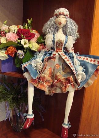 Скульптурно-текстильная кукла Маковка ручной работы на заказ