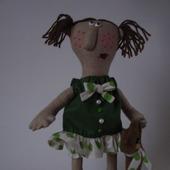 Скульптурно-текстильная кукла Маленькая Ягуся