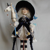 Скульптурно-текстильная кукла Маленькая всадница
