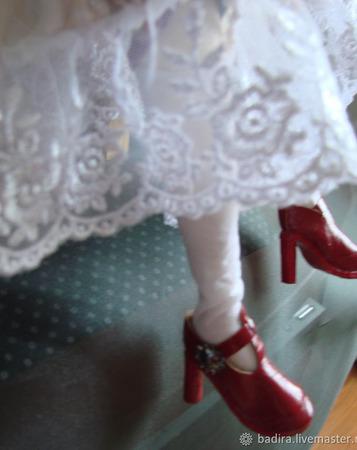Скульптурно-текстильная кукла Скрипачка ручной работы на заказ