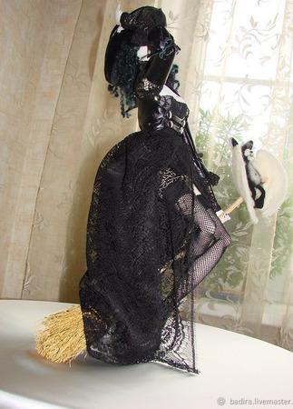 Скульптурно-текстильная кукла Леди Ягбет ручной работы на заказ