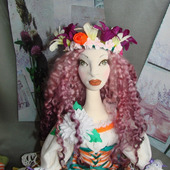 Скульптурно-текстильная кукла Олеся