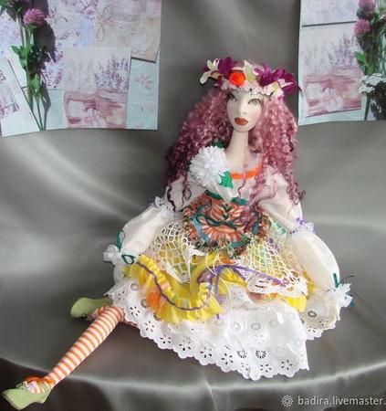 Скульптурно-текстильная кукла Олеся ручной работы на заказ