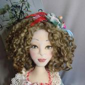 Скульптурно-текстильная кукла Оливия