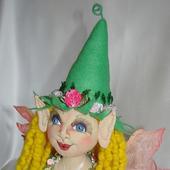 Скульптурно-текстильная кукла Алва (Эльф)