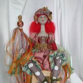 Скульптурно-текстильная кукла Веселина