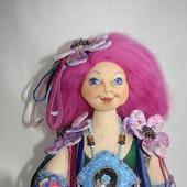 Скульптурно- текстильная кукла Фелиция