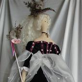 Кукла в стиле Тильда в платье викторианской эпохи