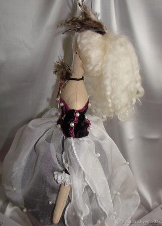 Кукла в стиле Тильда в платье викторианской эпохи ручной работы на заказ