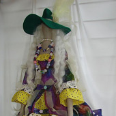 Скульптурно-текстильная кукла Бохиня