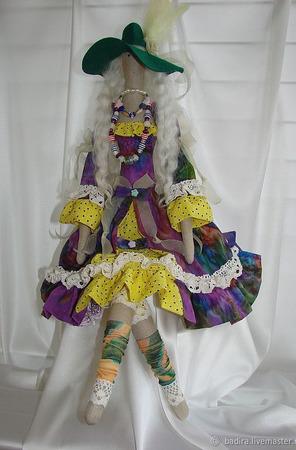 Скульптурно-текстильная кукла Бохиня ручной работы на заказ