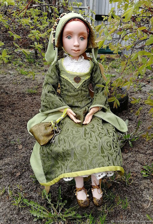 Эмма, средневековая скандинавская красавица ручной работы на заказ