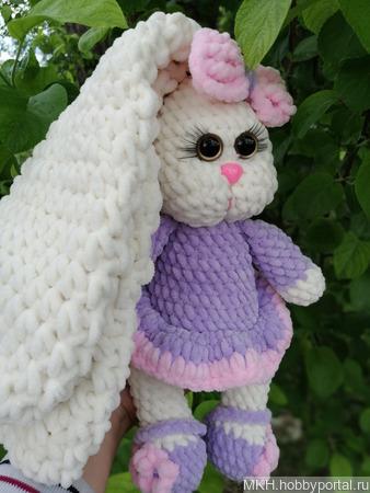 Плюшевый заяц ручной работы на заказ