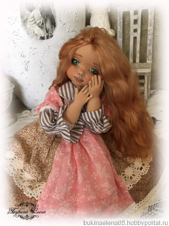 Коллекционная текстильная куколка ручной работы на заказ