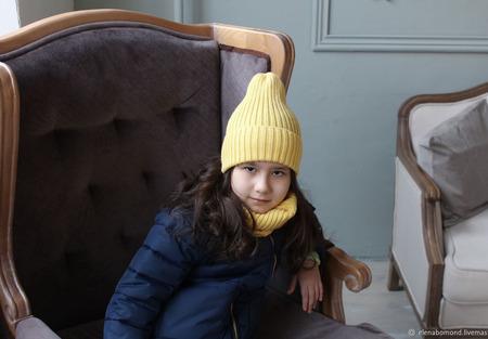 "Комплект шапка + снуд ""Солнышко"" ручной работы на заказ"