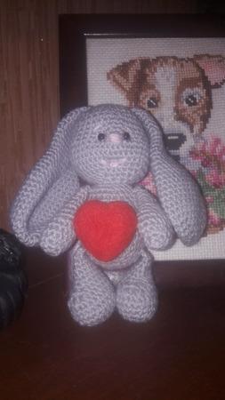 Кролик с сердечком ручной работы на заказ