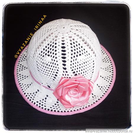 Шляпка для девочки ручной работы на заказ
