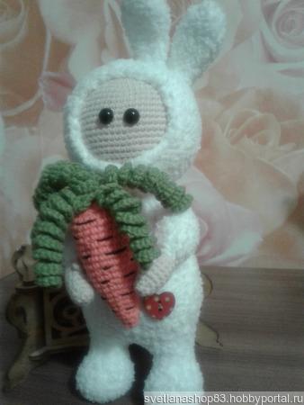 Зайка сладкая морковка ручной работы на заказ