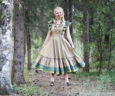 Платье бохо стиль хлопковое ручной работы на заказ