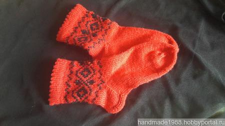 Носки с орнаментом ручной работы на заказ