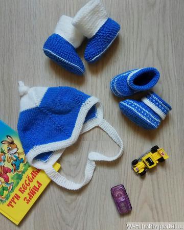 """Набор для малыша """"Морская вода"""" ручной работы на заказ"""
