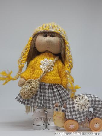 Кукла текстильная 17 см ручной работы на заказ