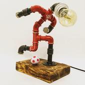 Светильник из водопроводных труб Footbal Player