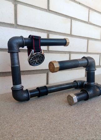 Подставка для часов, украшений и бижутерии в стиле Лофт ручной работы на заказ