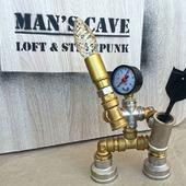 Светильник из водопроводных труб лофт/стимпанк