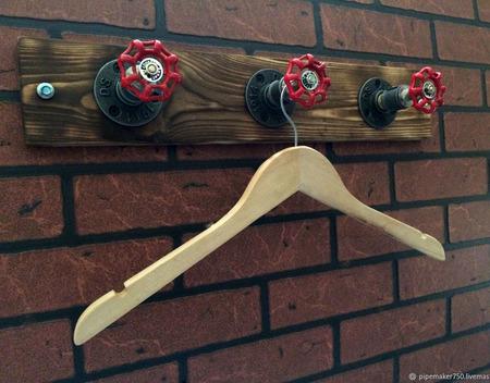 Вешалка в стиле Loft & Industrial ручной работы на заказ