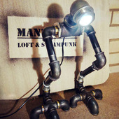 «Ти-рекс» - светильник из водопроводных труб в стиле Loft/steampunk