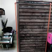 Рейл или Вешалка для одежды в стиле Лофт №7