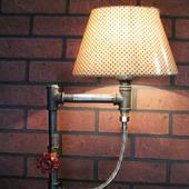 Настольная лампа с вентилем в стиле Лофт/Стимпанк/Индастриал