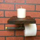 Держатель для туалетной бумаги Лофт из водопроводных труб