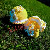 "Летний комплект для девочки ""Бабочка"": панамочка и сумочка"