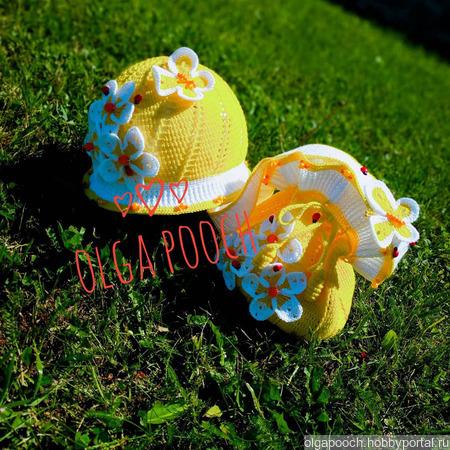 """Летний комплект для девочки """"Бабочка"""": панамочка и сумочка ручной работы на заказ"""