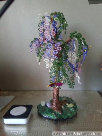 Дерево из бисера ручной работы на заказ