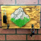"Ключница в стиле стринг-арт ""Mountains"""