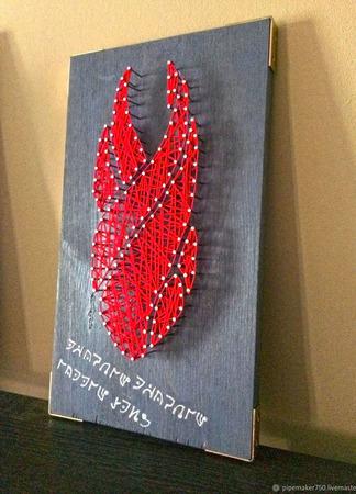 """Настенное панно в стиле стринг-арт """"The Marker"""" ручной работы на заказ"""