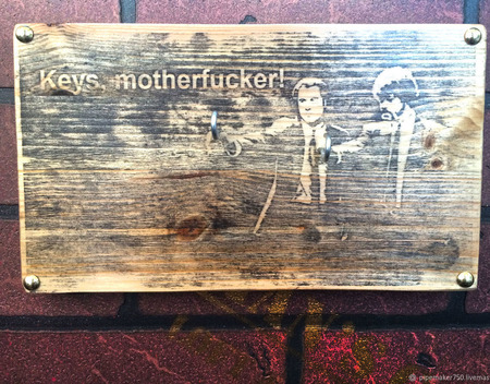 "Ключница ""Pulp Fiction"" ручной работы на заказ"