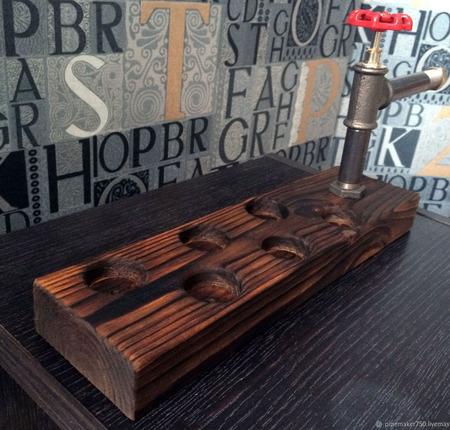 Подставка для стопок в стиле Loft ручной работы на заказ