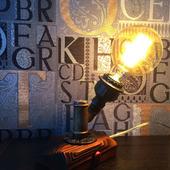 Настольная лампа «Presto!» в стиле Лофт//Индастриал