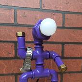 Настольная лампа в стиле стимпанк/индастриал Robo Lamp