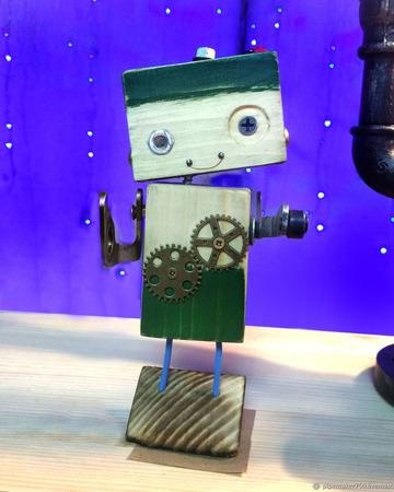 """Ключница """"Робот"""" ручной работы на заказ"""