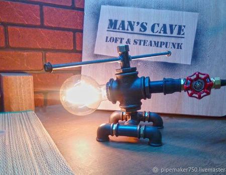 Светильник из водопроводных труб Лофт/Индастриал ручной работы на заказ