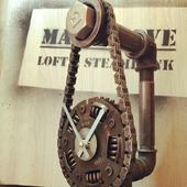 Настольные подарочные часы из демпфера сцепления