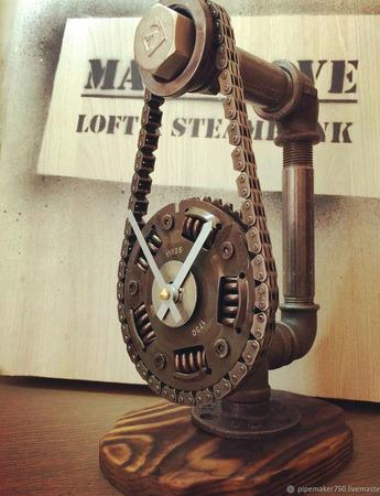 Настольные подарочные часы из демпфера сцепления ручной работы на заказ