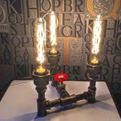 """Светильник """"Трио"""" в стиле Лофт из водопроводных труб"""