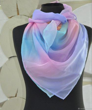 Женский шелковый платок ручной работы на заказ