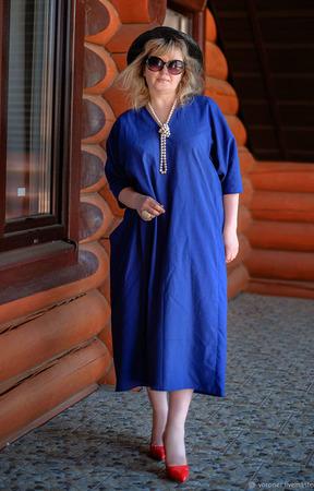 Льняное платье для милых дам ручной работы на заказ